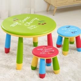 [더싸다특가] 홈스토리 유아 책상 + 의자 2개 세트 역대급 가격! / 어린이 책상_레드,그린_ 스툴 색상 랜덤
