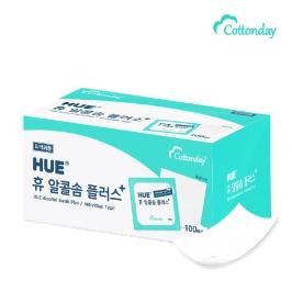 긴급수량확보 코튼데이 휴 알콜솜 플러스 100매 쉽게 소독할수 있는 휴대용 알콜솜