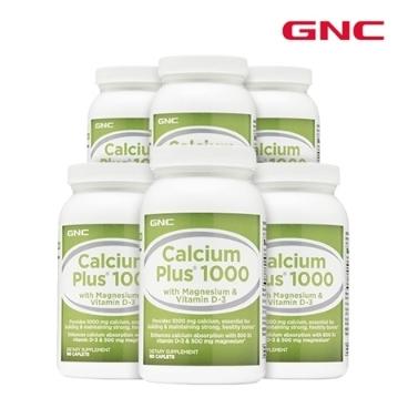 [해외배송] 무료배송 gnc 칼슘플러스 1000 180정 1~6개묶음