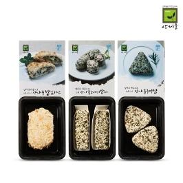 [어디까지팔아봤니] 주먹밥 3종세트(산나물/소세지/돈까스)간편밥 3팩
