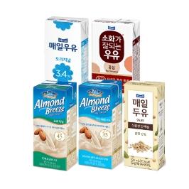 [게릴라특가] 아몬드브리즈190mlx24팩 외 매일유업 우유/두유 모음전/15%쿠폰할인!