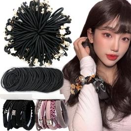 [투데이특가] 사은품증정 걸핀스 머리끈 짱짱한 고무줄 대용량 선물용으로 딱좋은 헤어핀/머리끈