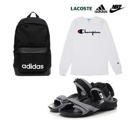 [투데이특가] 브랜드 신발/가방/의류 균일가 모음 아디다스/나이키 백팩/바지/팬츠/티셔츠 슈즈코치!