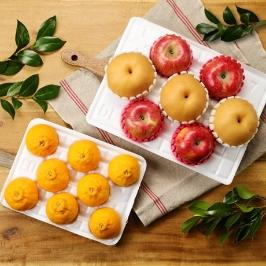 [게릴라특가] 사과배한라봉 혼합과일선물세트5kg (사과4과,배3과 + 한라봉2kg) 제수용과일 /설선물세트 / 과일선물세트