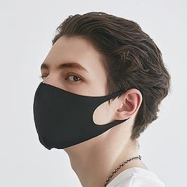 당일발송/개별포장/개당950원/3D입체 연예인 패션 마스크/검정 무봉제마스크 (10P)