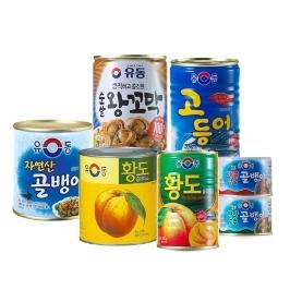 [묶음배송] 유동 골뱅이/왕꼬막/황도 외