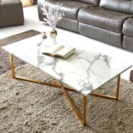 타티나 홈스타일링 마블 대리석 커피 티 소파 좌식 테이블 거실 테이블 1200