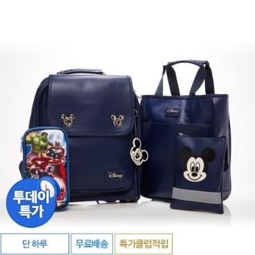 [투데이특가] 디즈니 프리미엄 미키셸 신학기 가방 패키지 4종세트 네이비