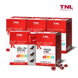 TNL 남극 100% 크릴오일 1+1+1+1+1 5개월분 외 오메가3, 루테인, 밀크씨슬, 지아잔틴, 칼슘 마그네슘 아연