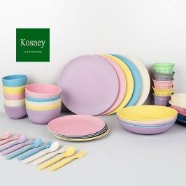 [위메프어워즈] 코즈니 옥수수/대나무 식기 성인~유아 모두 사용 가능! 식기/유아그릇/파스텔그릇/접시/대나무식기