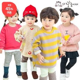 까꿍놀이터 15%쿠폰X30%쿠폰 최대45% 겨울할인 유아맨투맨/레깅스/원피스/자켓/티셔츠