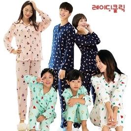 [투데이특가] 온가족 피치기모잠옷세트! 자수바지1+1 아동상하세트1+1/원피스1+1 균일가!/추가 10% 쿠폰혜택까지!