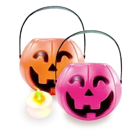 [투데이특가] 할로윈 파티 LED 호박바구니 대 +LED 촛불 증정