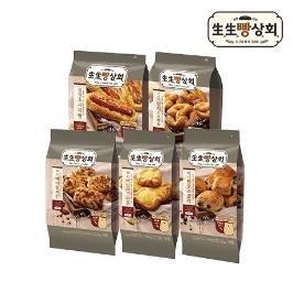 생생빵상회 미니팡오쇼콜라 8개입(240g) x 2봉 /냉동생지/에어프라이어빵/베이커리/크로와상