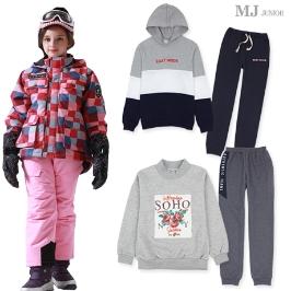 [위메프어워즈] 겨울옷 명가 MJ주니어 MD픽 172종! 엄선한 겨울 니트 쫄바지/ 기모 맨투맨/ 스키장갑 혜택가!
