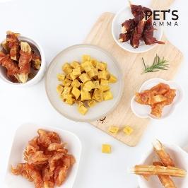 펫츠맘마 맛보기VS대용량 국내생산 깔끔포장 최신제조 강아지 수제간식