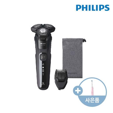 [DAY][K쇼핑] 필립스 New SkinIQ 딥블랙 S5588 면도기 + 필립스 음파칫솔 HX6434/01