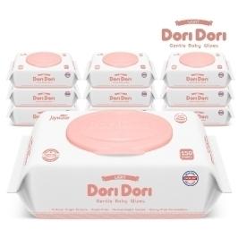 도리도리 퓨어 물티슈 캡형 100매 20팩 아기 유아 신생아 데일리 대용량 청소 선물 물티슈