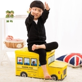 스쿨버스 장난감 정리함 5컬러 / 우리 아이 정리정돈 습관기르기