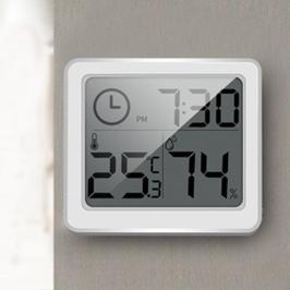 슈와츠코리아 슬림 정밀 온습도계 온도 습도계 탁상시계