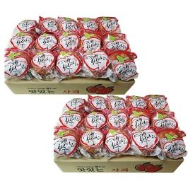 싱싱! 매일 한알씩! 오존수로 씻은 개별포장 세척 사과 2.5kg+2.5kg/대저토마토2.5kg 첫출하!