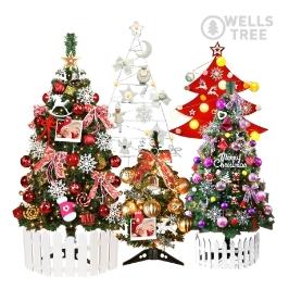 [위메프어워즈] 신상 크리스마스 벽트리/트리/우드트리 전구 풀세트/윈도우스티커 대방출!