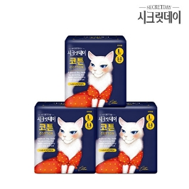 시크릿데이 생리대 코튼 대형 14PX3팩 / 생리대 3팩 구매시 1팩당 2,970원 / 9팩 구매시 1팩당  2,220원