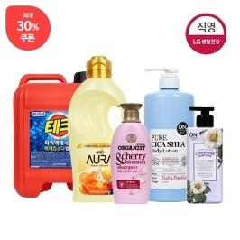 [더싸다특가] LG 30%쿠폰! 체험팩 샴푸 / 세제 / 바디워시 / 섬유 유연제 / 바디로션 / 치약 / 염색약 / 주방세제 / 세정제