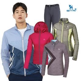 비티알 봄맞이 골프웨어 방풍자켓/티셔츠/기능성팬츠 300종