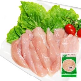 닭안심(국내산) 슬라이스 10kg(냉동)