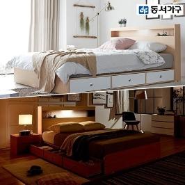 동서가구 신상품 네스 LED 수납 침대 시리즈 외 / 매트리스 Q, SS