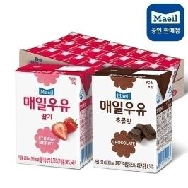 매일멸균 딸기우유 24팩+초코우유 24팩