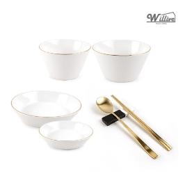 윌리브 골드림 신상 고급식기 1인세트 균일가 그릇/대접/접시/수저세트/파스타