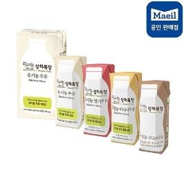 [위메프데이] 전상품 20%쿠폰할인!/상하 유기농 흰우유 125mlx48팩 외 상하목장/검은콩두유/매일두유