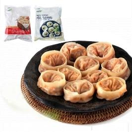 [더싸다특가] 구매후기4.5 ! 바른선 고기+김치손만두 1+1봉 총 2.8KG / 50+50알