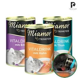음수량을 늘려 신장 및 요로건강 도움! 고양이 음료수 미아모아 바이탈 드링크 135ml (참치/치킨/오리)