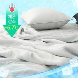 [더싸다특가] 최대20%쿠폰 + 공기순환 극대화 여름냉감 이불+패드+베개 3종세트