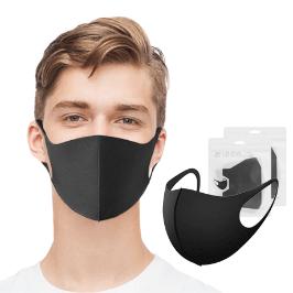 [쿠폰할인+국내배송] 개별포장 빨아쓰는 3D입체 연예인 마스크 / 검정 무봉제마스크