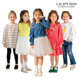 [모다아울렛] 릴리푸리 여아의류/봄옷/팬츠/레깅스/상하복/맨투맨/티셔츠/원피스/가디건