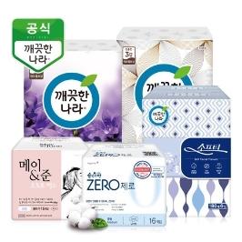 다양항 쿠폰혜택!/깨끗한나라 화장지,생리대 모음전