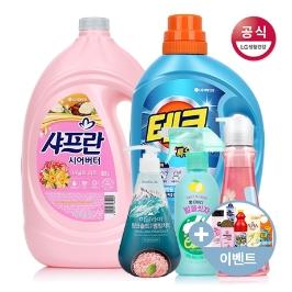 LG생활건강 브랜드전 / 세탁세제, 섬유유연제, 우한폐렴예방, 치약, 바디워시, 샴푸, 테크, 온더바디, 샤프란