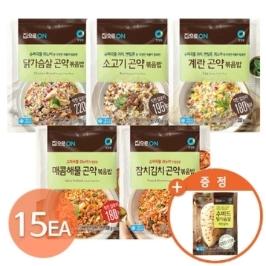 [청정원] 곤약볶음밥 5종 15팩+(증정)수비드닭가슴살100g
