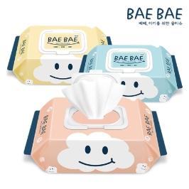 BAEBAE 베베 아기물티슈 55gsm 비데용 30매 캡형 10팩 / 20팩 /  휴대용 / 비데용 / 물티슈특가