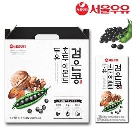 서울우유 검은콩 호두 아몬드두유 190ml x 32팩 / 12시 이전 주문건까지 당일배송!