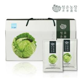 청춘농장 친환경 양배추즙 30포 구매시 1포당 397원 / 120포 구매시 1포당 298원