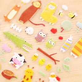 [투데이특가] 말랑스티커 12장세트 外 장난감 DIY 애니메이션아트 만들기놀이