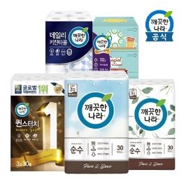 [원더배송] 깨끗한나라,화장지,각티슈,키친타올