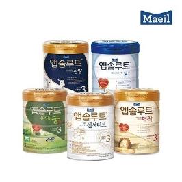 맘마밀 안심밥상 이유식/앱솔루트 명작 궁 산양 분유 유아식 모음전