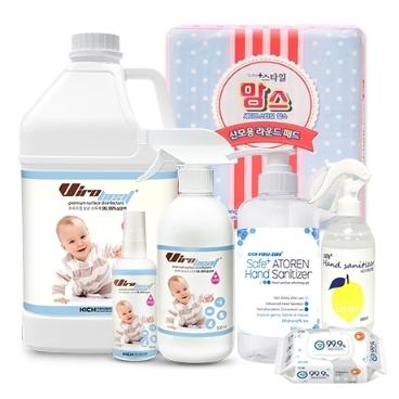 [수요잡화상점] 바이로비트 유아용 살균소독제 위생용품 물티슈 출산준비물 산모패드