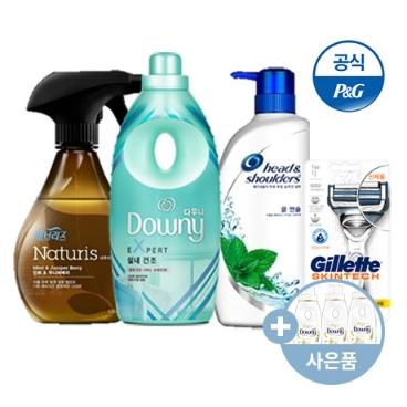 다우니 × 6 / 섬유 유연제 / 샴푸 / 질레트 면도기 / 페브리즈 / 칫솔
